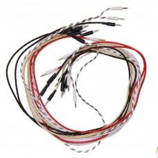 2عدد کابل 1 متر صدا / AUX/ کنف و بسیار مقاوم | کابل 1 متر صدا / نوع 1 به 1 / کنف و بسیار مقاوم / کابل ضخیم / AUX / کیفیت بالا